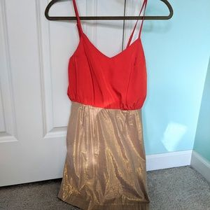 Lola Orange and Gold Dress